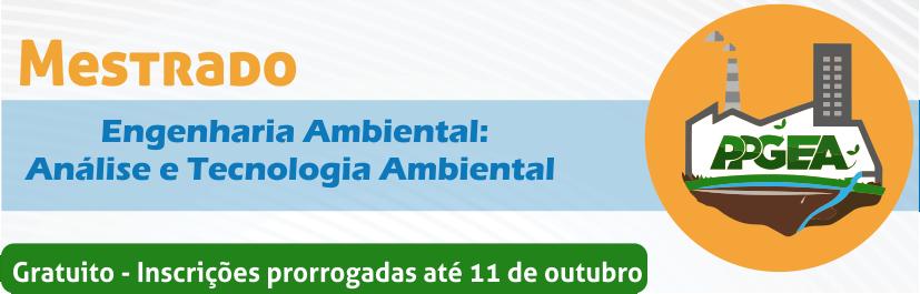 Banner Prorrogação do Mestrado PPGEA