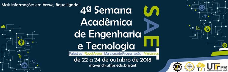 4ª SEMANA ACADÊMICA DE ENGENHARIA E TECNOLOGIA