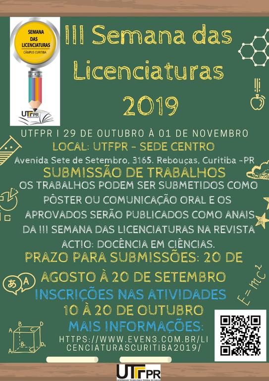 III SEMANA DAS LICENCIATURAS UTFPR-CT