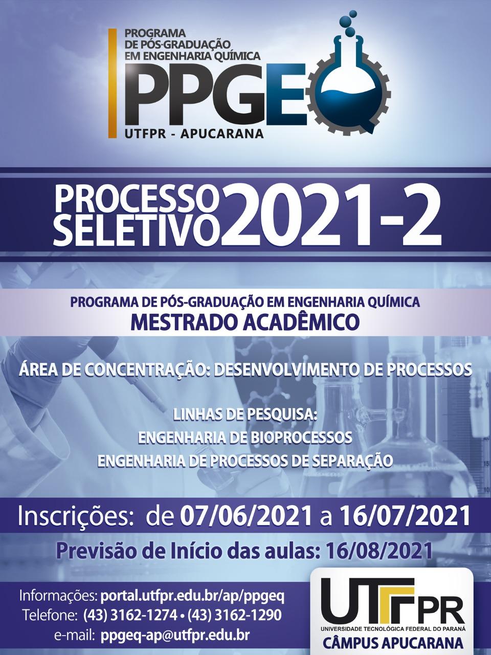 Processo seletivo 2021-2