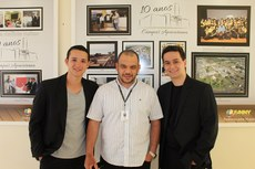 Da esquerda para a direita: Rone, Murilo e Allan