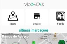 Tela do aplicativo MoovDis