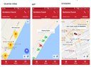 """Telas do aplicativo """"Bombeiros Paraná"""", desenvolvido pelo LapTI"""