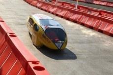 Protótipo da Pato a Jato durante competição (Foto: Divulgação)