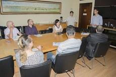 Reunião com os alunos selecionados para o pré-doutorado da UTFPR (Foto: Decom)