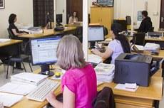 Sala de setor administrativo da UTFPR (Foto: Decom)