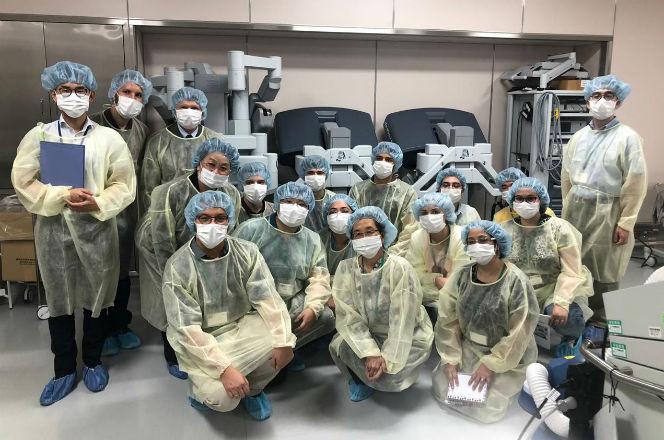 Alunos no Hospital Universitário de Shinshu | Foto: Guilherme Mattiello