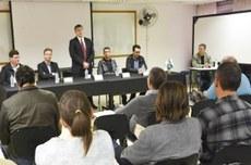 Aula inaugural do doutorado em Planejamento e Governança Pública da UTFPR (Foto: Decom)