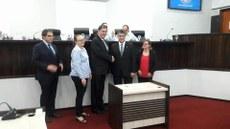 Assinatura da carta de intenções de doação de terreno no Biopark à UTFPR