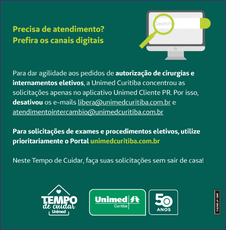 Comunicado da prestadora de serviços de saúde
