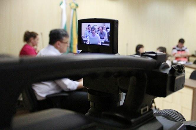 Transmissão da reunião do Conselho Universitário da UTFPR (Foto: Decom)